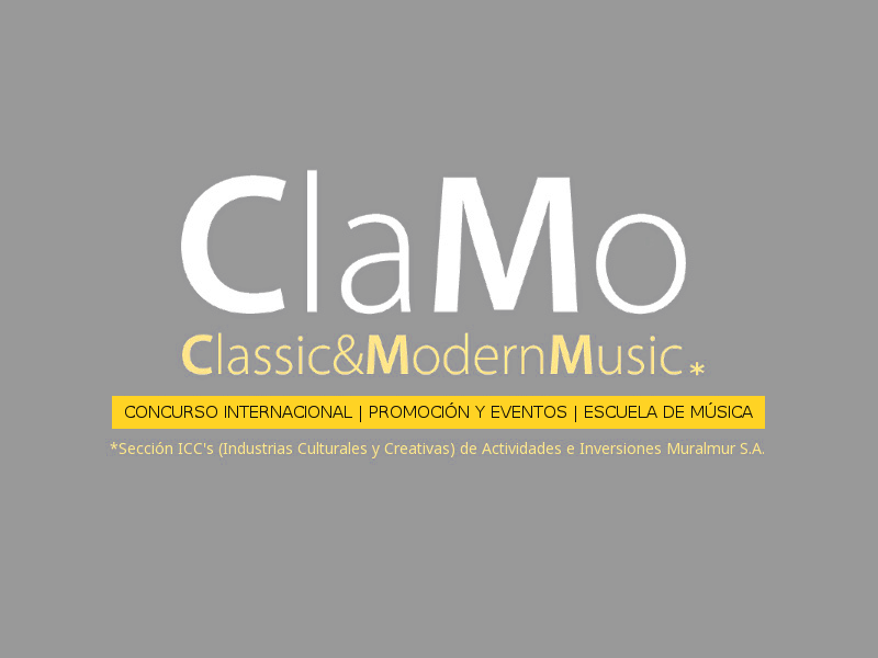 Clamo Music Concurso Internacional de PIano, Promocion Musical y Eventos