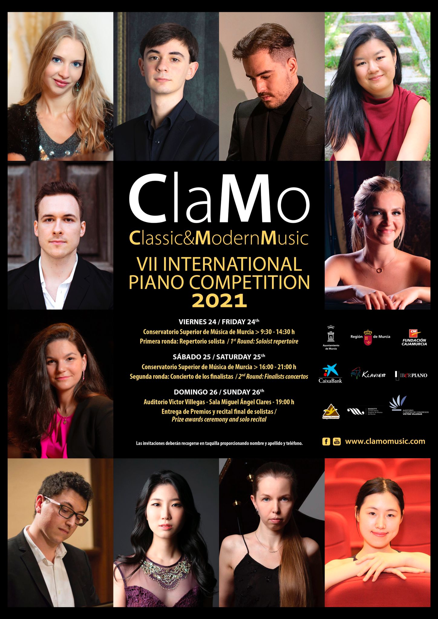 VII Clamo Music International Piano Competition - City of Murcia 2021